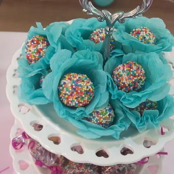 40 Forminha de Crepom Azul Tiffany