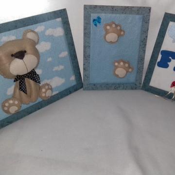 Trio de Quadros Urso