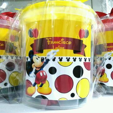 Mickey balde com peças tipo lego