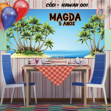 Painel festa decoração festa havaiana