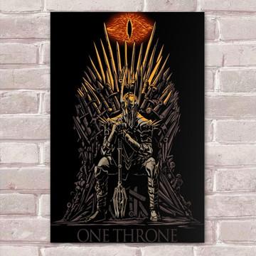 Placa Decorativa Sauron One Throne-30x20cm