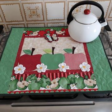 Kit cortina para forno, toalha para fogão e puxa sacos!!