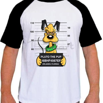 Camiseta Raglan Personagem Disney Pluto Prisioneiro