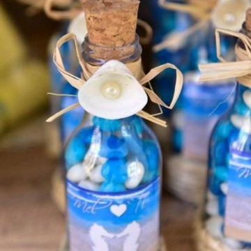 Lembrancinha casamento praia garrafinha