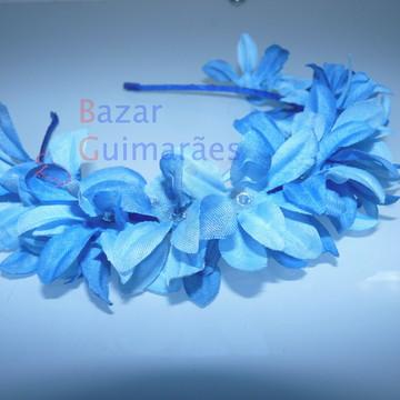 Tiara Floral - Azul
