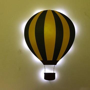 Luminoso Balão MDF LED Decorativo Quarto Infantil