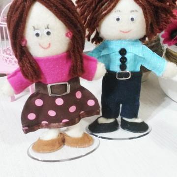 Topo para Bolo chá de Bebê Mamãe e Papai
