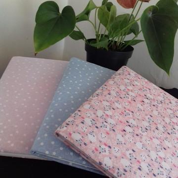 Cadernos encapados com tecido