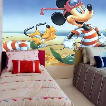 Adesivo de Parede Infantil Mickey 0008 - Papel de Parede 3D