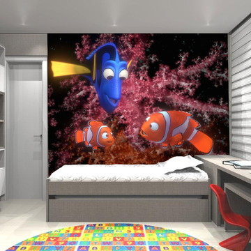Adesivo de Parede Infantil Procurando Nemo 0008