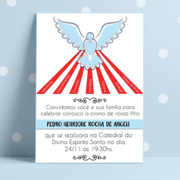 Convite Crisma Menino - Arte Digital