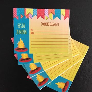 Cartões Correio Elegante - Festa Junina