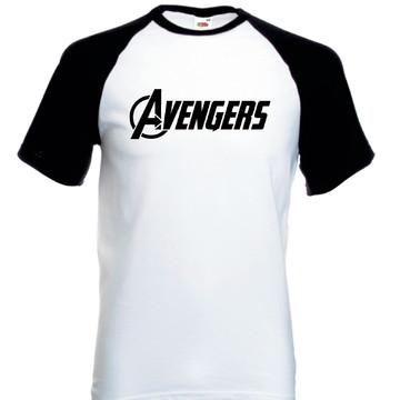 Camiseta Raglan Manga Curta Os Vingadores Avengers