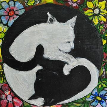 Imã Tao Gatos Floral
