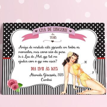 Convite Chá de Lingerie Pin-Up