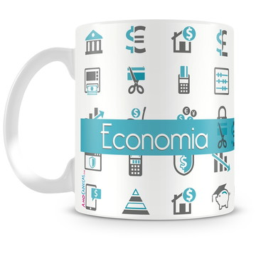 Caneca de Formatura de Economia Personalizada