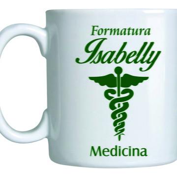 Caneca de Formatura de Medicina Personalizada
