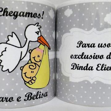 Caneca Personalizada de Nascimento -Lembrancinha Nascimento