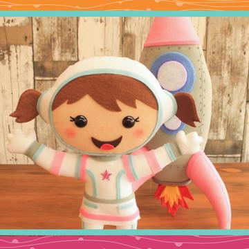 Astronauta e Foguete personagens - LOCAÇÃO