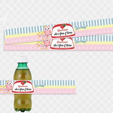 Rótulo Adesivo para Refrigerante Corujinha