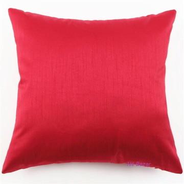 Capa de Almofada Lisa Cetim Vermelha - 40 x 40 cm