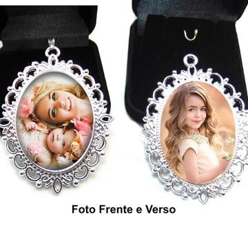Medalha Buque com foto frente e verso com vidro na foto
