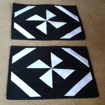 Jogo de Tapetes de retalho patchwork catavento