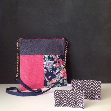 Tiracolo Patch Floral Pink + brinde