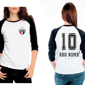 Camiseta Raglan 3/4 sao paulo