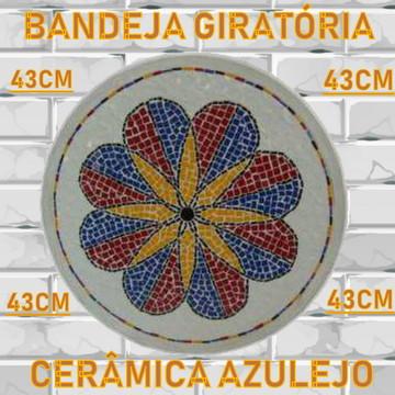Bandeja Giratória 43cm de Diâm Mosaico Série Estrela