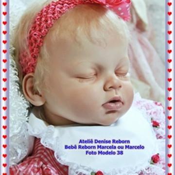 Boneca Bebê Reborn Marcela ou Marcelo Opção Sem Enxoval