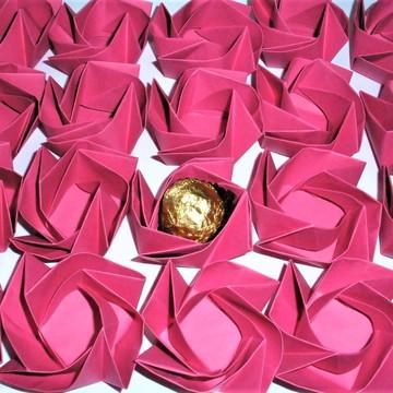 Forminha de origami -forminha flor