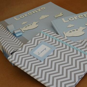 Kit Livro Bebe+album fts+pt caderneta vacinacao 1