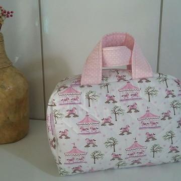 Bolsa Infantil Carrocel Rosa