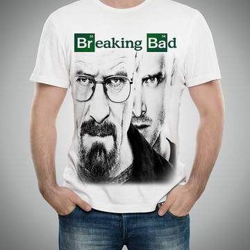 fa80e4534 Camiseta Feminina Cinza Mescla Breaking Bad Heisenberg Cryst