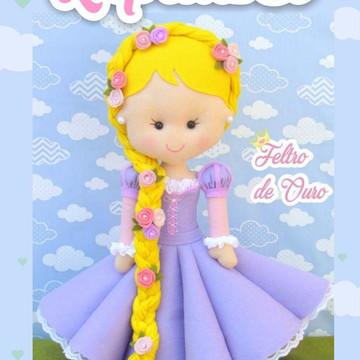 Apostila Digital Rapunzel em Feltro