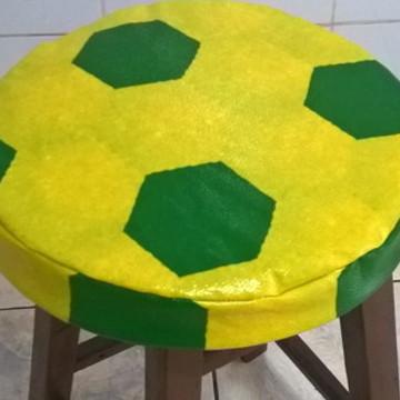 Capa Brasil para Banqueta/Banco com Espuma