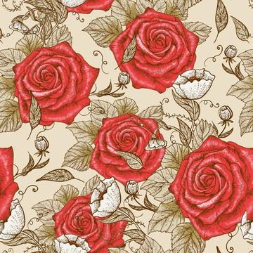 Papel De Parede Quarto Rosas Vermelhas Fundo Areia