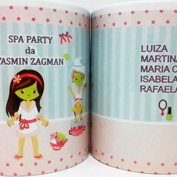 Caneca personalizada para Aniversário festa no spa