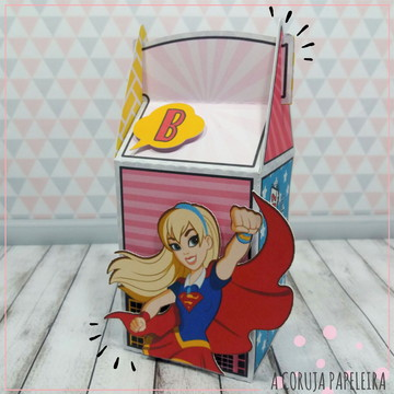 Caixa Retangular DC Super Hero Girls