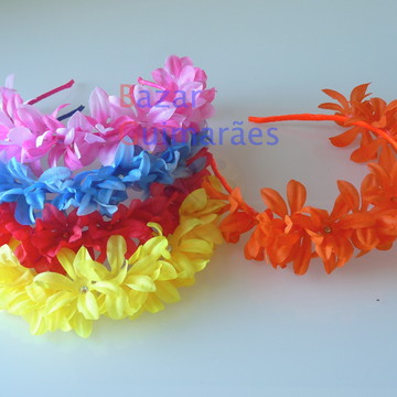 Kit Tiara Floral - 5 cores
