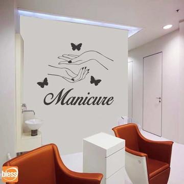 Adesivo Recorte Parede Salão de Beleza Manicure