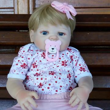Bebê Reborn Corpo Silicone Menina PRONTA ENTREGA