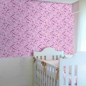 Papel de Parede – Infantil Traços Rosa
