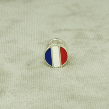 Berloque Charms Bandeira França Esmaltado (l3,1) Prata 925