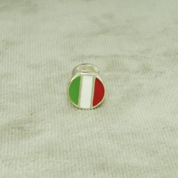Berloque Charms Bandeira Itália Esmaltado (l3,1) Prata 925