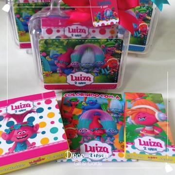 Maletinha Acrílica com Kit Arte - Trolls