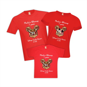 Camisetas Aniversario Disney Pirata Orlando