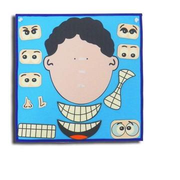 Painel Expressões - Carinha Menino - Brinquedo Educativo