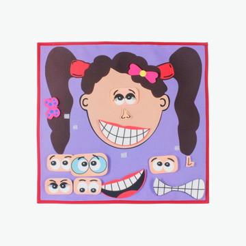 Painel Expressões - Carinha Menina - Brinquedo Educativo
